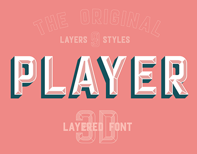 Player layered font
