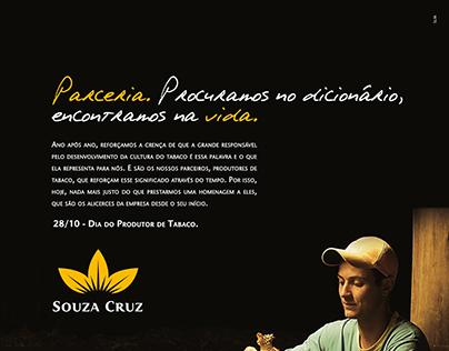 Anúncio Dia do Produtor de Tabaco - Souza Cruz.