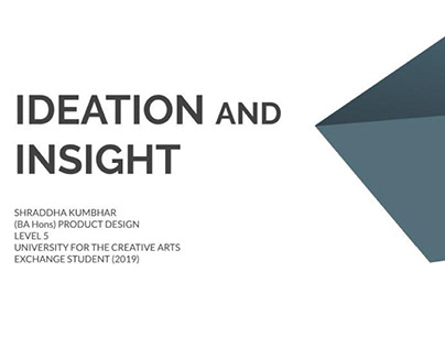 Ideation and Insight