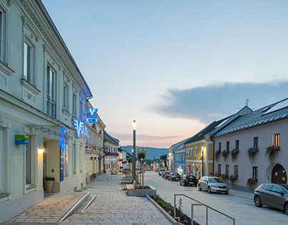 new market square st.oswald bei freistadt, austria
