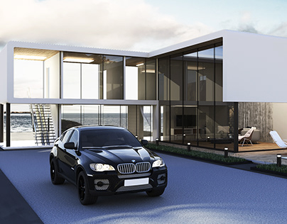 UAE architectural design of own mansion house by AIR