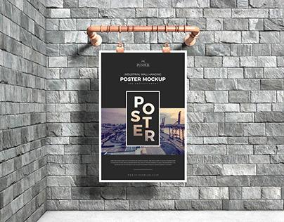 Industrial Advertising Poster Mockup Free