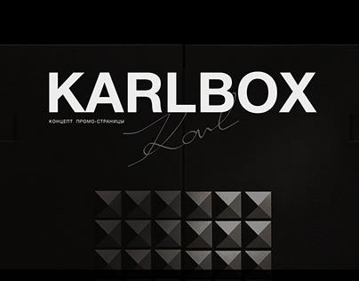 KARLBOX website — design concept