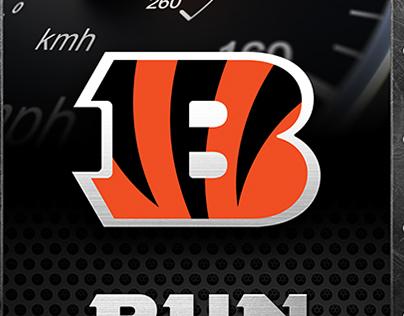 Cincinnati Bengals Locker Room Slap Plate