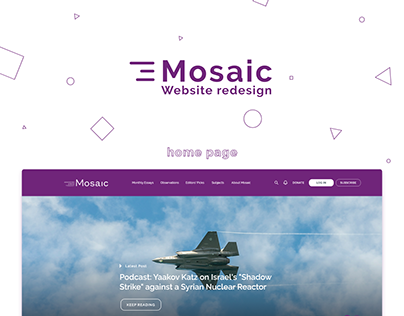 Website redesign for Mosaic