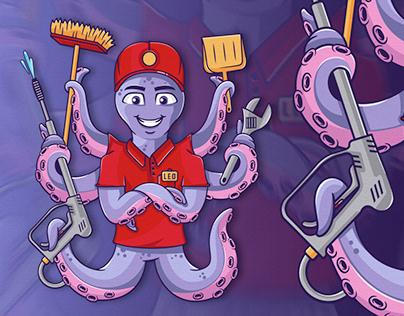 Mascot Maintenance Octopus
