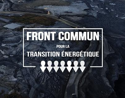 Front commun pour la transition énergétique