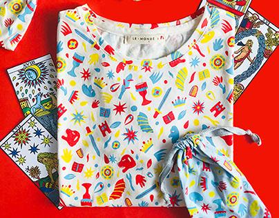 Le Mondé x Pi   Pattern design, clothing & accessories