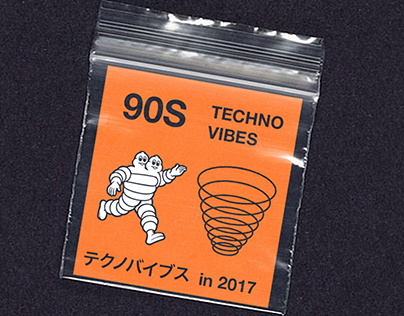 90s Acid techno merchandising
