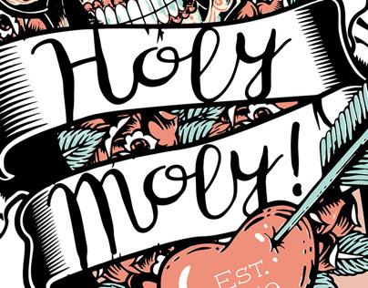 Holy Moly! Cafe in Riga, Latvia. Logo. Branding.