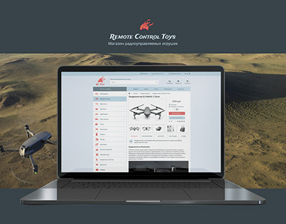Website. Remote control toys shop