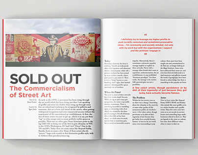 "Graphic Design Project // Magazine Spread // ""Sold Out"""