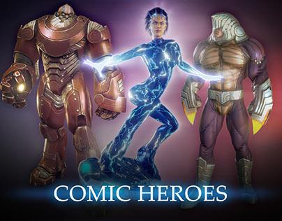 Comic superheroes (Oct-Dec 2011)