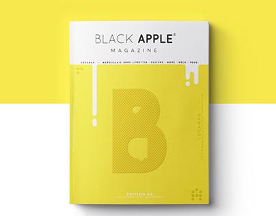Black Apple #4 — editorial design