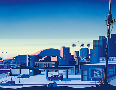 Los Angeles cityscape - private commission