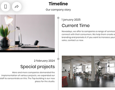 8b Online Website builder | Timeline Template!