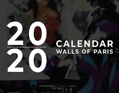2020 calendar – walls of Paris