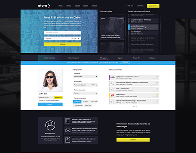Atora - Job offers & community portal WebDesign