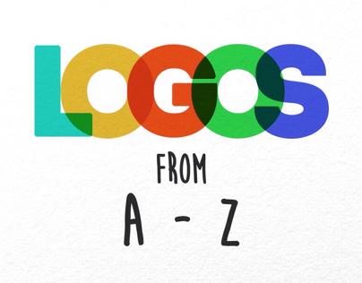 Logo mockups from A-Z