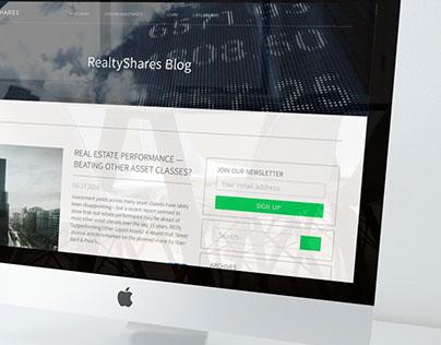 RealtyShares-Blog redesign/ UI Design
