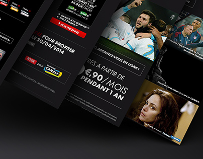 Canal+ Responsive Email Design