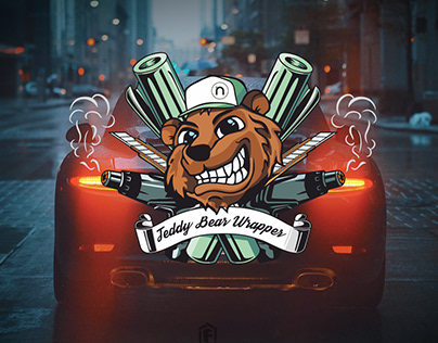 Car wrapper character logo design