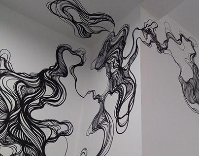 Wall Art - Bathroom Lines