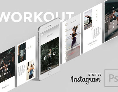 Workout PSD Instagram Stories
