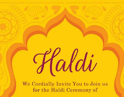 Haldi ceremony E-Invite
