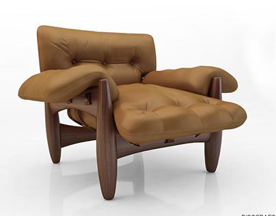 Mobiliário 3D Sergio Rodrigues