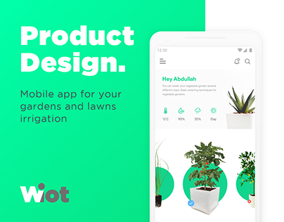 Product Design for IoT Based irrigation app