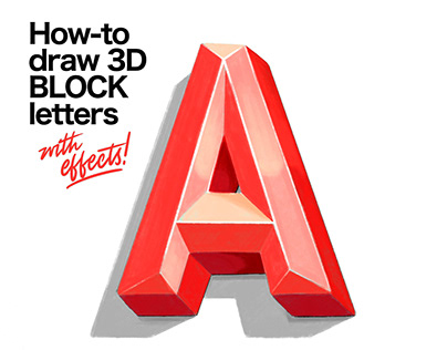 How-to draw 3D Block Letters