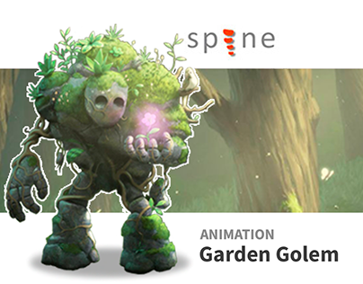 Spine Animation: Garden Golem