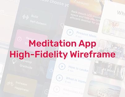 Meditation App Wireframe