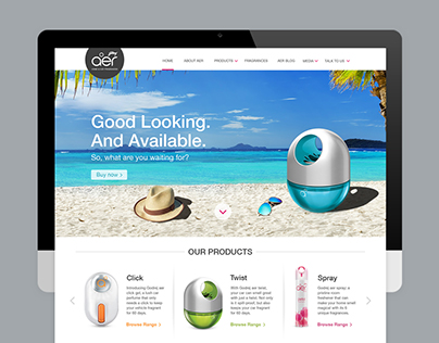 Godrej Aer- Website Redesign