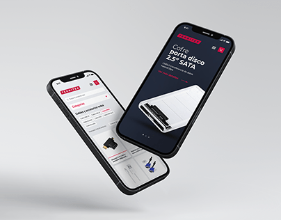 Tech accessories website - Identity & packaging