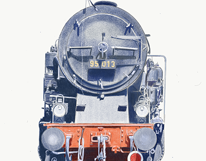 Portrait of German Steam Engine Class 95
