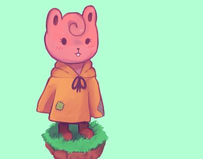 Pink little rodent
