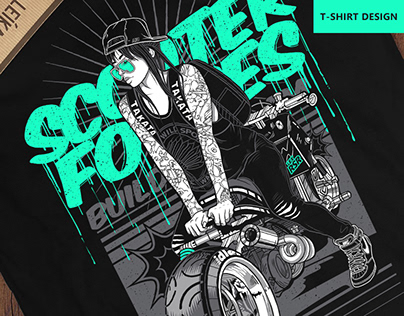 «Scooter forces» t-shirt design