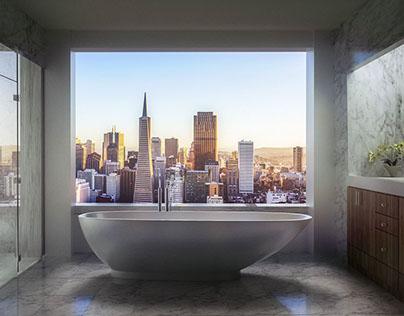 Penthouse Bathroom Render