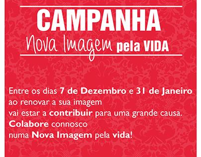 """Flyer """"Campanha Nova Imagem pela vida""""."""