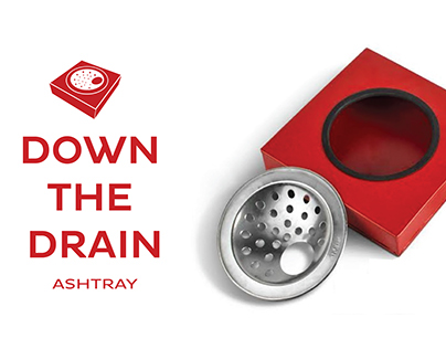 Down the Drain Ashtray