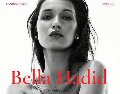 LANDINGPAGE || WEBSITE ABOUT BELLA HADID