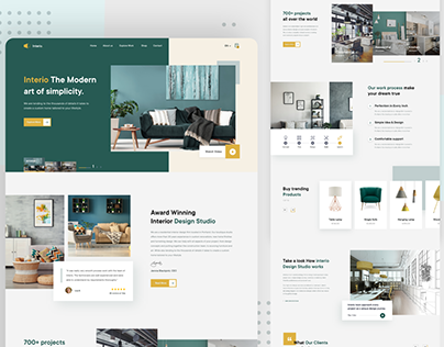 Interio | Interior landing page design