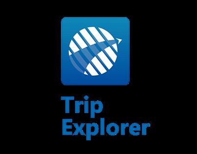App TripExplorer - Conceito Inicial (2017)