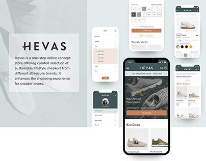 HEVAS - Ecommerce Mobile Web App | UI & Brand Design