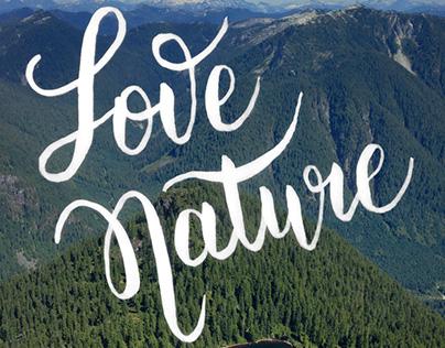 Handlettering - Love Nature