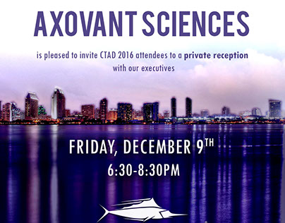 Advertisements, Posters and Invitations for Axovant