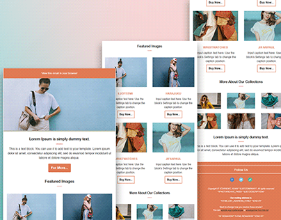 Mailchimp Email Template Or Newsletters Design