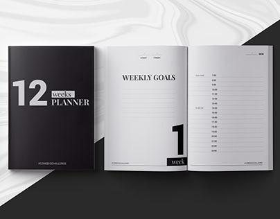 12 weeks planner InDesign template